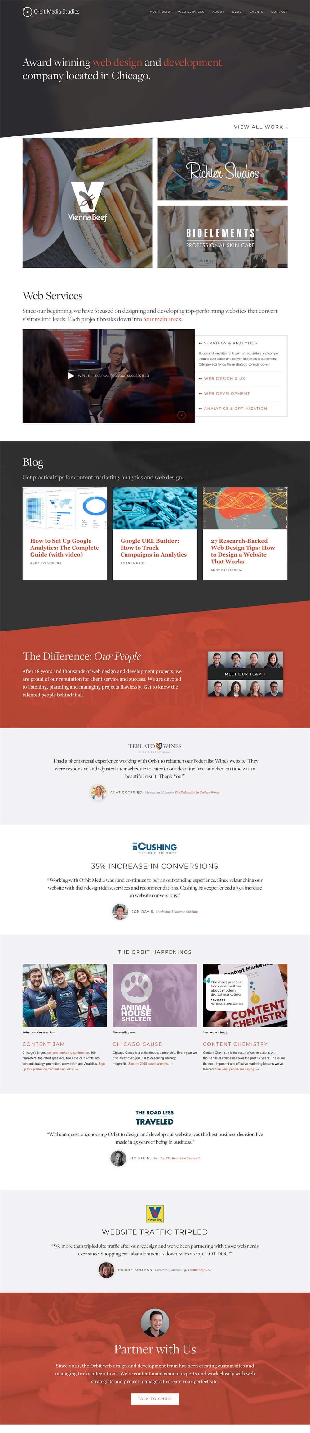 Home Page - Orbit Media-Award Winning Web Design and